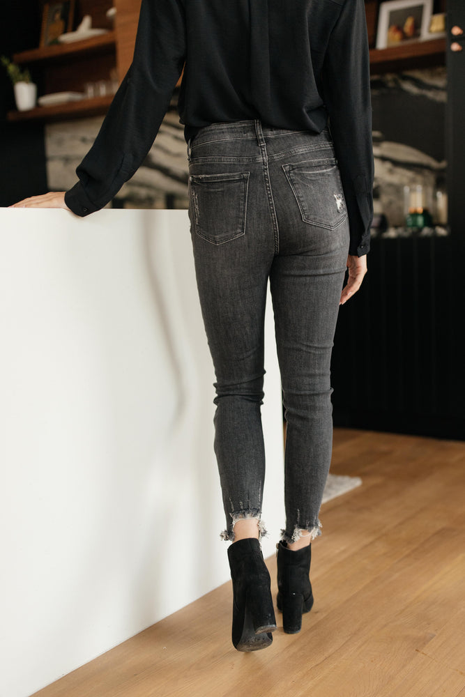 Gray Days Button Rise Jeans