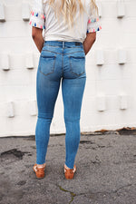 Carter Distressed Jeans - Copper Sky Boutique