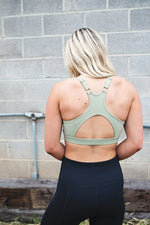 Ashton Cutout Sports Bra - Copper Sky Boutique