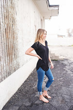 Kelly V-Neck Tee - Copper Sky Boutique
