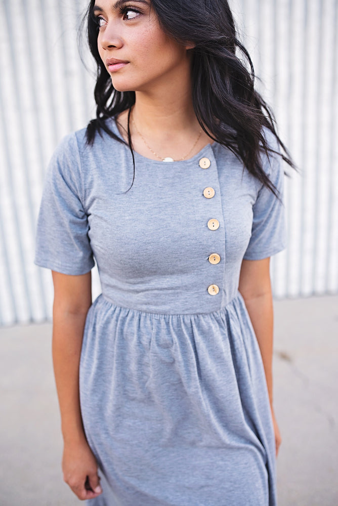 Tia Button Down Dress - Copper Sky Boutique