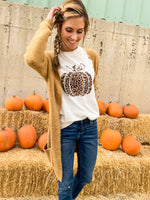 Pumpkin Leopard Graphic Tee