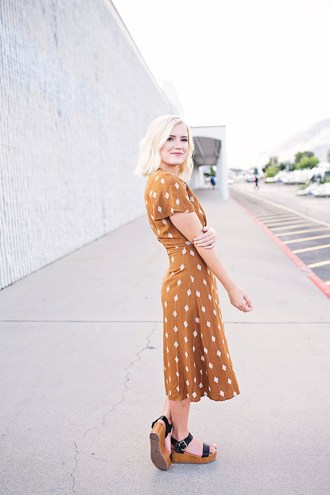 Mila Diamond Dress - Copper Sky Boutique