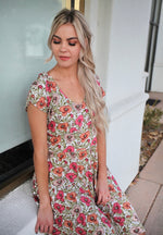Gia Floral Tiered Dress