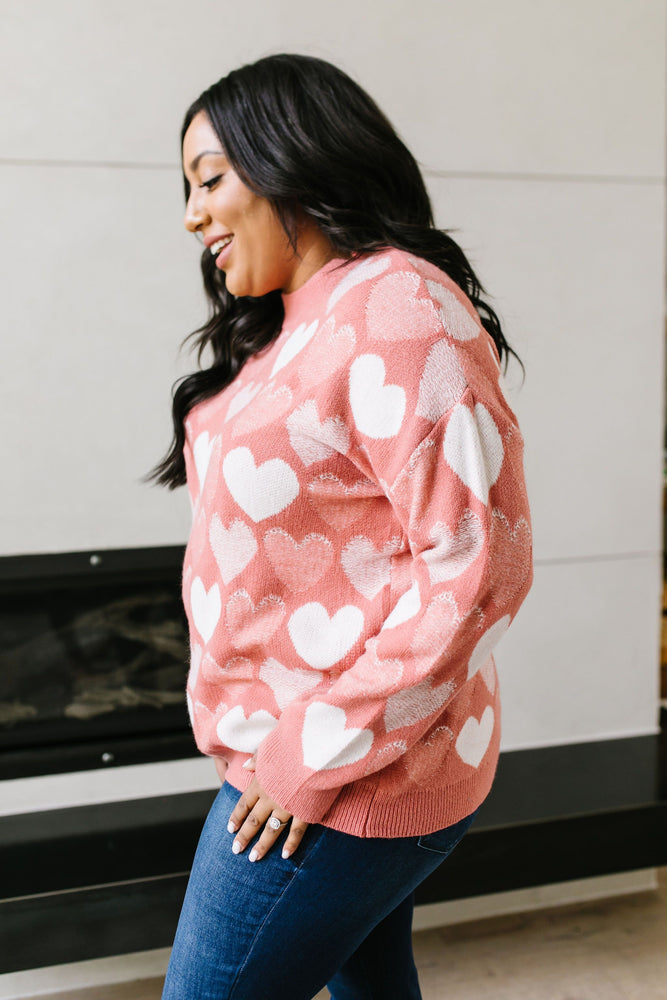 Lovin' It Sweater In Pink