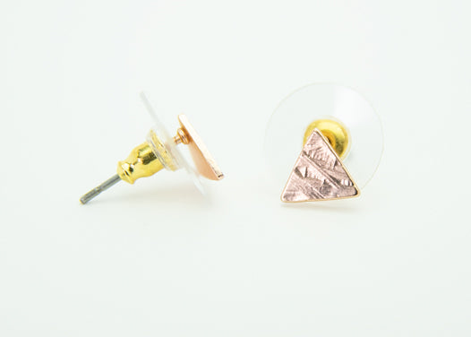 Textured Triangle Studs - Copper Sky Boutique