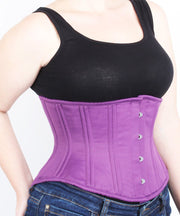 Underbust Purple Duchess Satin Corset