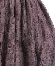 Brown Lace Gothic Skirt