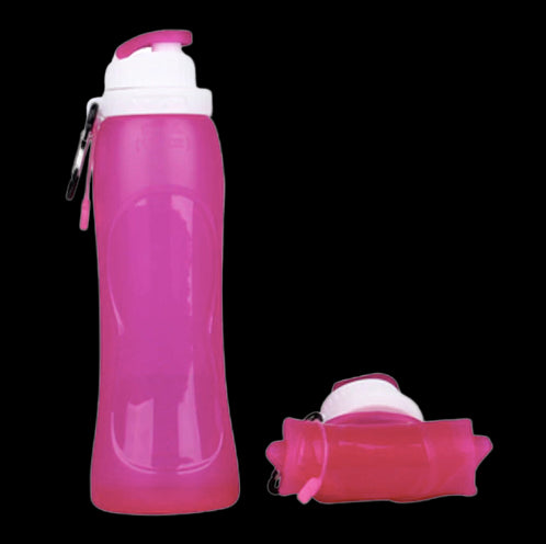 Collapsible Foldable Silicone Sport Water Bottle - 500ml