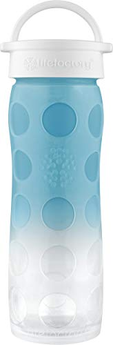 Lifefactory 16-Ounce BPA-Free Glass Water Bottle with Classic Cap, Ultramarine Ombre