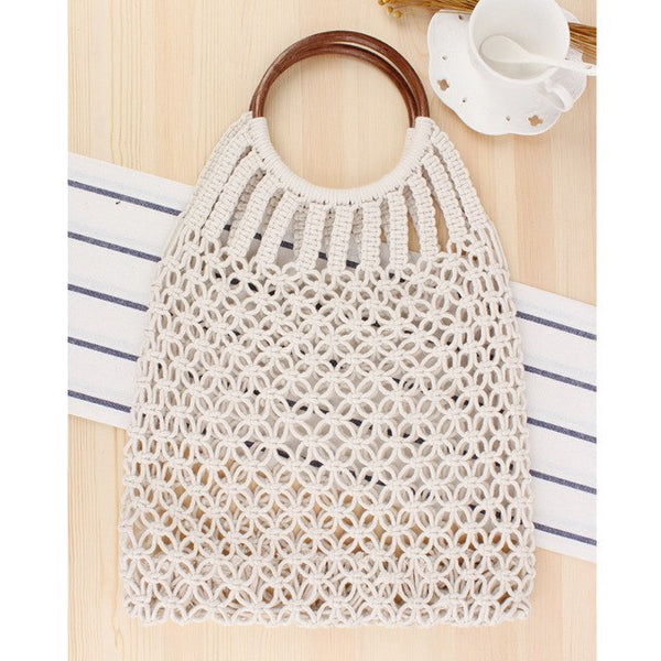 Hollow Vacation Tote Rattan Beach Bag