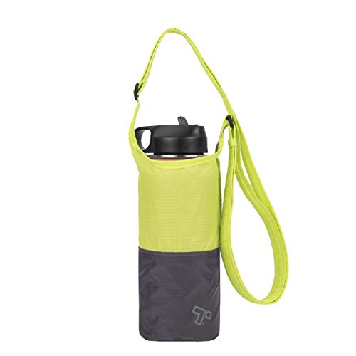 Travelon Packable Water Bottle Tote Sling, Lime/Gray, One Size