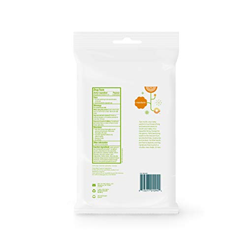 Babyganics Alcohol-Free Hand Sanitizer Wipes, Mandarin, 20 ct, 4 Pack, Packaging May Vary