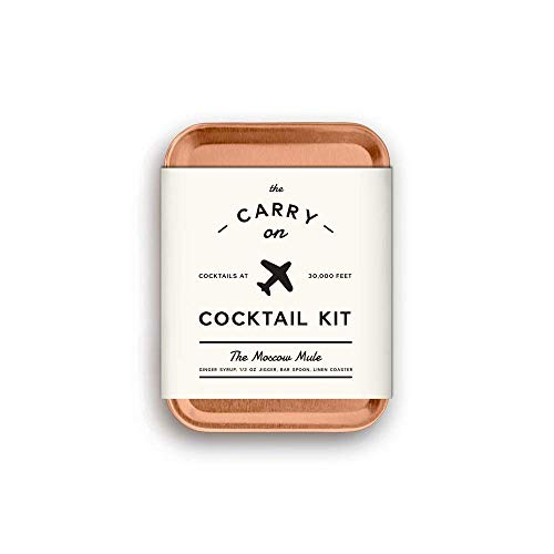 Carry on Cocktail Kit, Moscow Mule and Margarita, Travel Kit for Drinks on the Go, Craft Cocktails, Makes 4 Premium Cocktails, TSA Approved