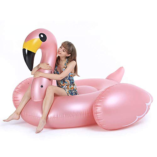Jasonwell Giant Inflatable Flamingo Pool Float with Fast Valves Summer Beach Swimming Pool Party Lounge Raft Toys for Adults Kids XXXX-Large