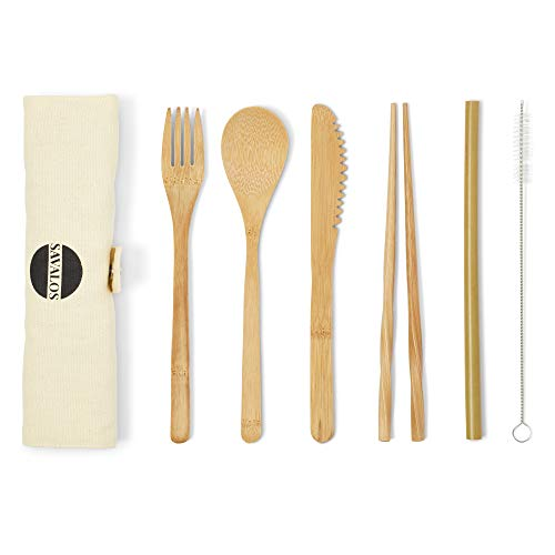 Bamboo Utensils Travel Set
