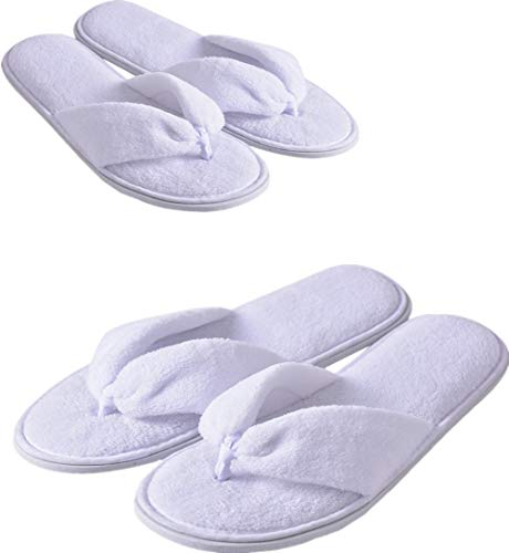 Flip Flops Spa Slippers 4 Pairs Guest Slippers Hotel Slippers in Salons Guest Room Hospital Washable Not Disposable