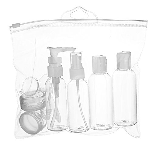 LUOYIMAN Travel Bottles Travel Accessories Small bottles Containers Leak Proof Portable Travel Plastic bottles(transparent)