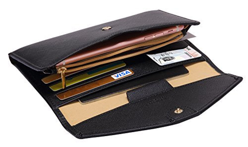 Zoppen Multi-purpose Rfid Blocking Travel Passport Wallet (Ver.4) Tri-fold Document Organizer Holder