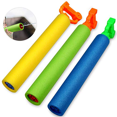 Betheaces Water Guns Toys for Kids, 3Pack Foam Water Blaster Shooter Summer Fun Outdoor Swimming Pool Games Toys for Boys Girls Adults