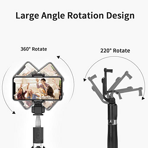 Bluetooth Selfie Stick Tripod,PEYOU Extendable Phone Tripod Stand with Wireless Remote, Tripod Stand Selfie Stick Compatible for iPhone 11/11 Pro/XS Max/XS/XR/X/8/7 Plus, Galaxy S9 S8 Note 9 8,Google