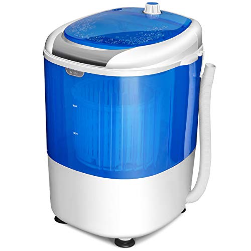 Washing Machine, Electric Compact Laundry Machines Portable Durable Design Washer Energy Saving, Rotary Controller and Washer Spin Dryer(Blue)