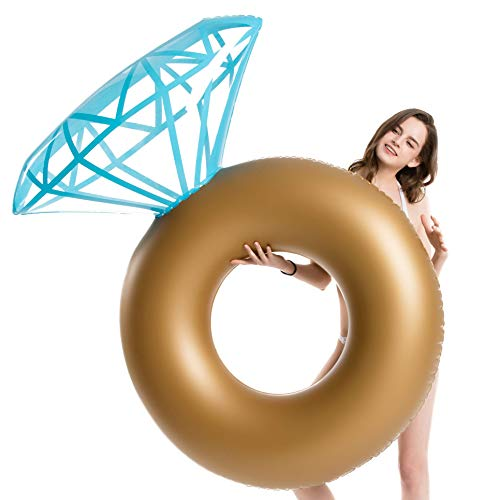 Jasonwell Inflatable Diamond Ring Pool Float Engagement Ring Bachelorette Party Float Stagette Decorations Swimming Tube Floaty Outdoor Water Lounge for Adults /& Kids