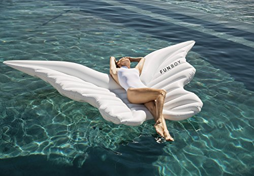 FUNBOY Giant Inflatable Angel Wings Pool Float