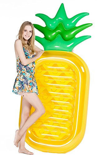 "Jasonwell Giant 76"" Pineapple Pool Party Float Raft Summer Beach Swimming Pool Inflatable Floatie Lounge Pool Loungers Decorations Toys for Adults & Kids"