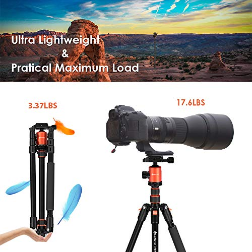 GEEKOTO Tripod, Camera Tripod for DSLR