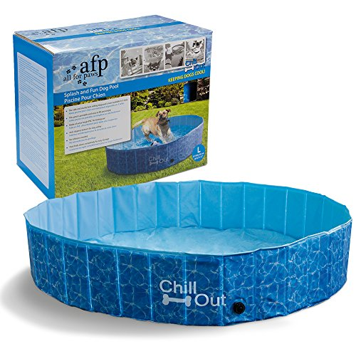 ALL FOR PAWS Outdoor Bathing Dog Pool Portable Pet Bath Tub Blue
