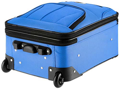 Rockland Fashion Softside Upright Luggage Set, Blue, 2-Piece (14/20)