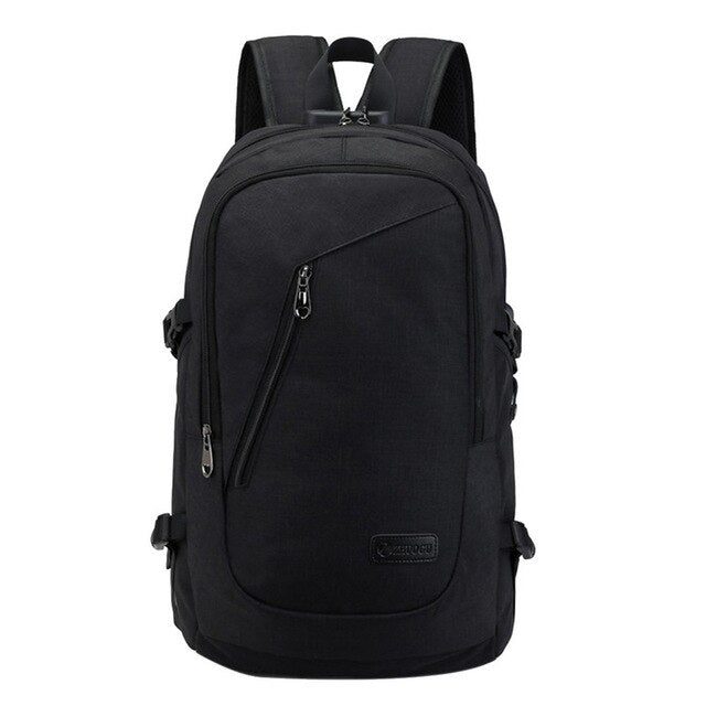 Fashion man laptop backpack usb charging computer backpacks casual style bag large male business travel bag backpack