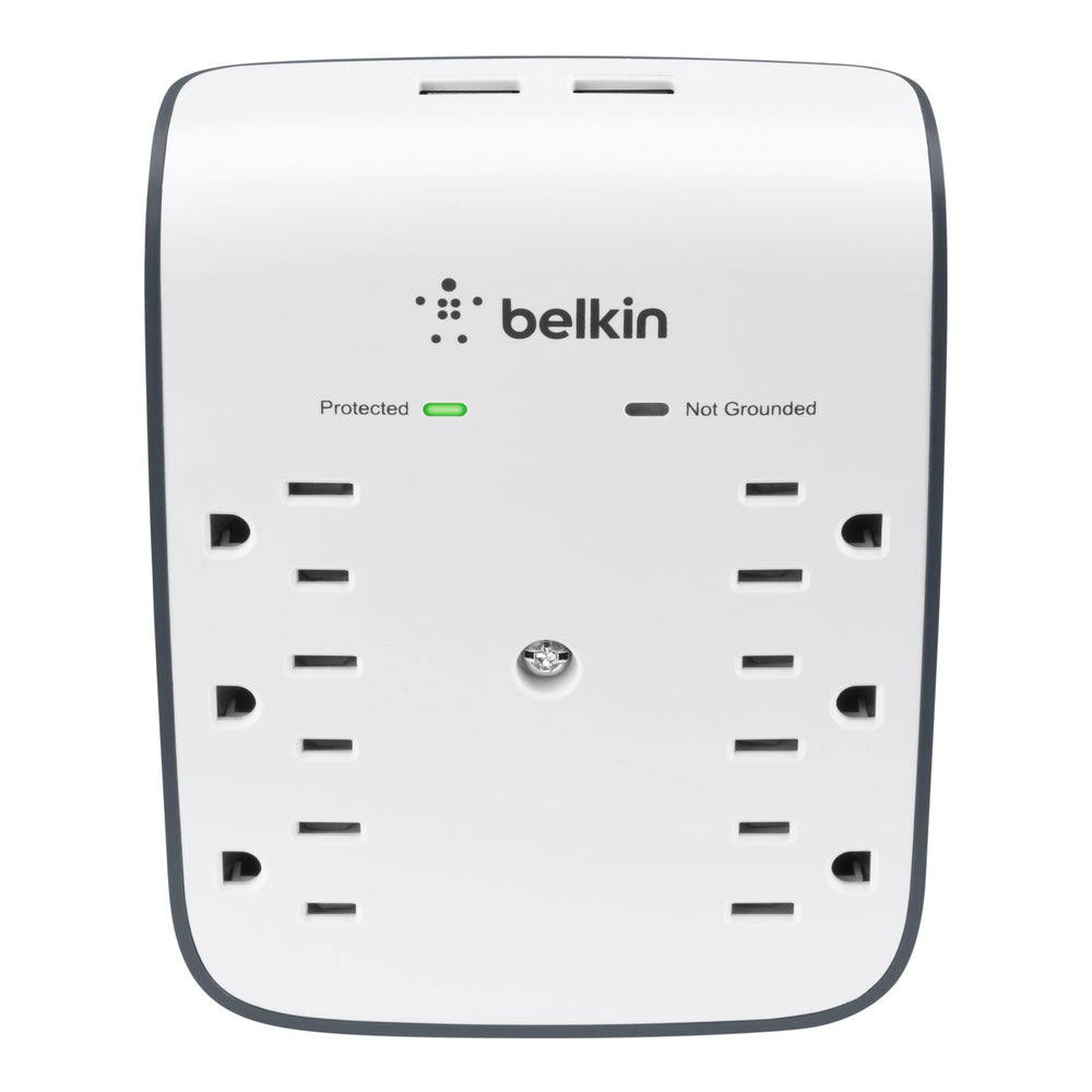 Belkin 6-Outlet USB Surge Protector Wall Mount