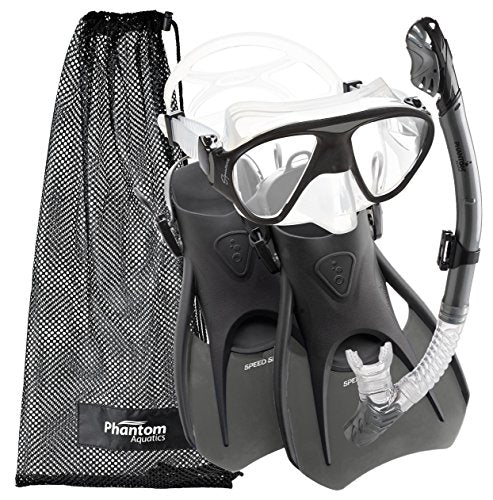 Phantom Aquatics Lotus Adult Recreation Mask Snorkel Set