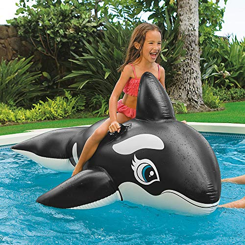 Intex Whale Inflatable Pool Ride-On, 76