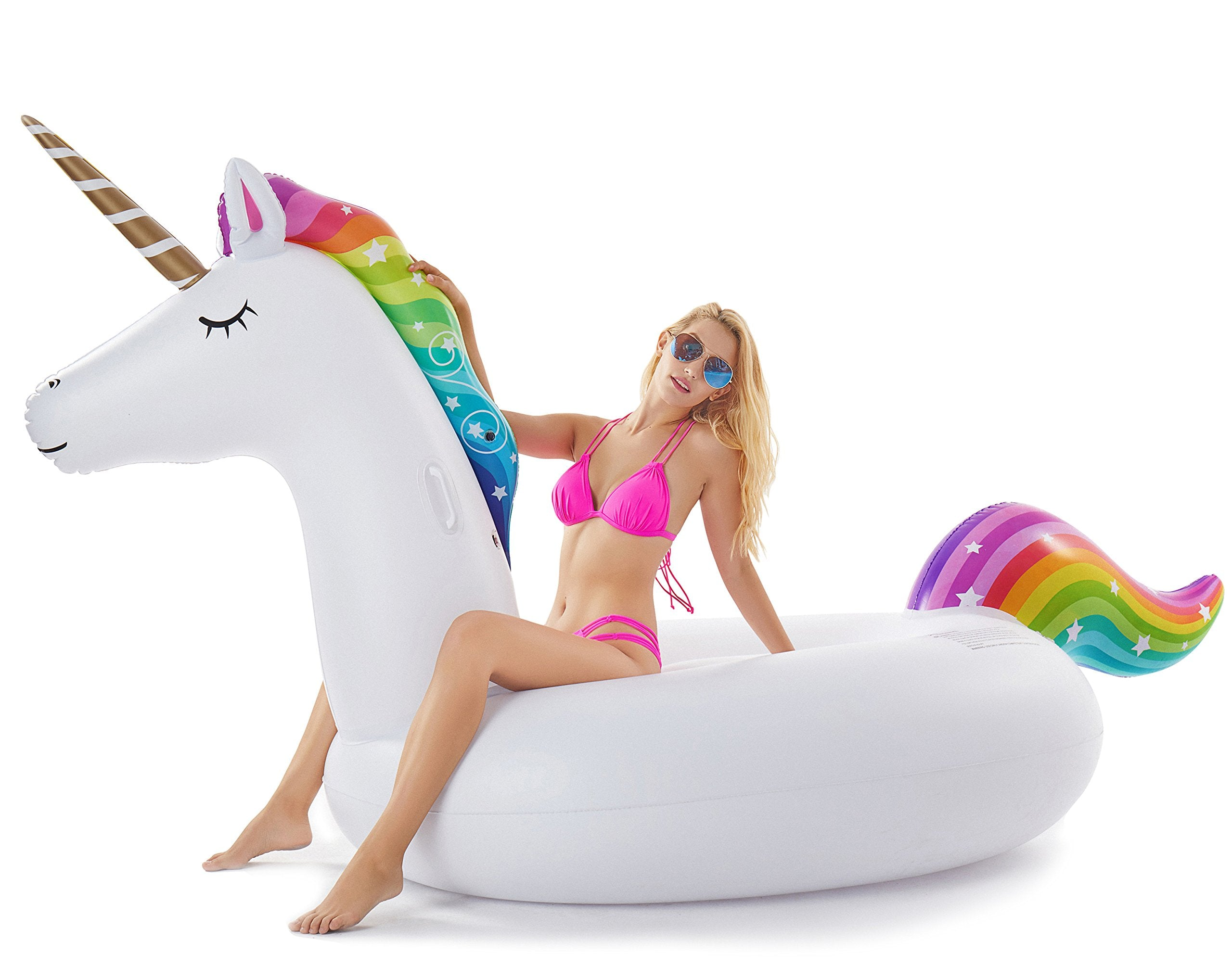 Surprising Jasonwell Giant Inflatable Unicorn Pool Float Floatie Ride On With Rapid Valves Large Rideable Blow Up Summer Beach Swimming Pool Party Lounge Raft Lamtechconsult Wood Chair Design Ideas Lamtechconsultcom