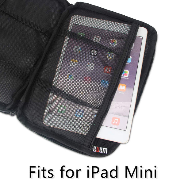 ipad or tablet compartment of a travel electronics organizer