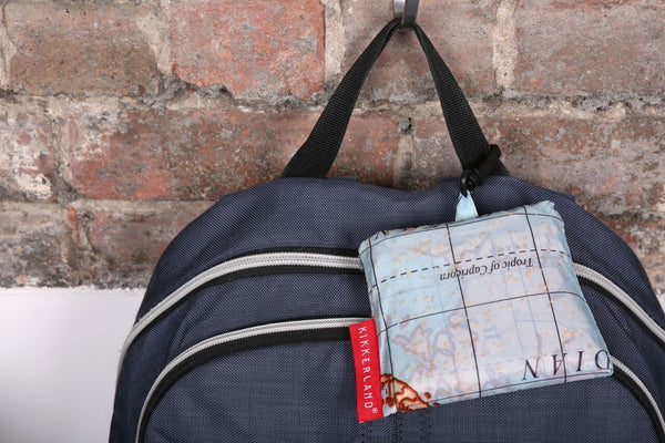 Travel-Size Laundry Bag, World Map