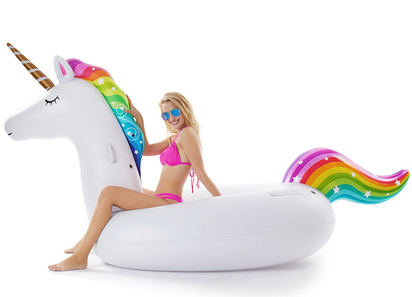 Giant Inflatable Unicorn Pool Float Blow Up Summer Swimming Pool Party Lounge Raft Toys Kids Adults