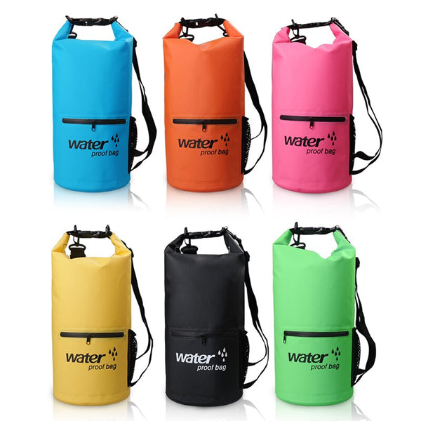 Ultralight Swimming Bag Dry 6 Colors Outdoor Nylon Kayaking Storage Drifting Waterproof Rafting Bag 20L XNC