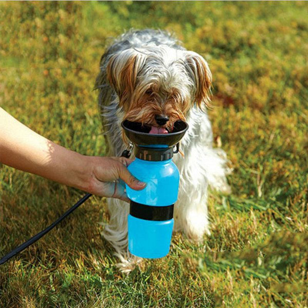Dog Travel Water Bottle Dispenser Plastic Dog Cat Drinking Water Feeder Portable Outdoor Pet Puppy Kettle