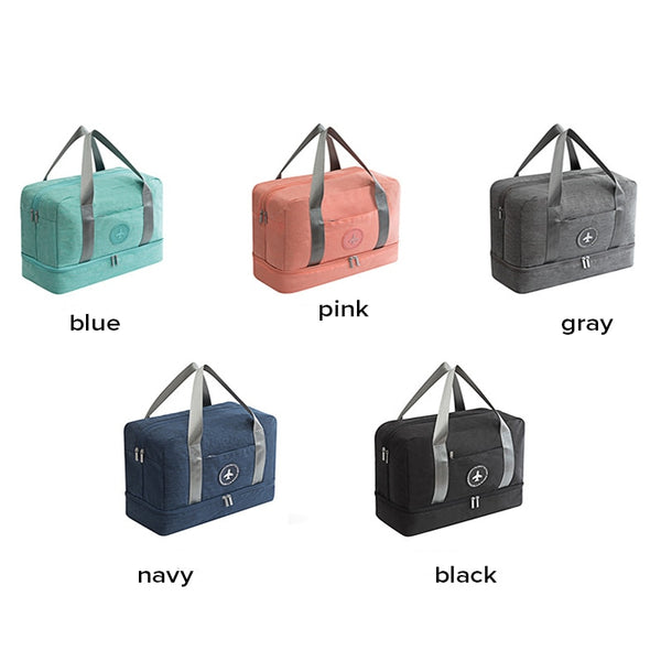 Portable Travel Bag Waterproof Travel Accessories Multifunctional Dry Wet Separation Storage Bag Soft Travel Duffle