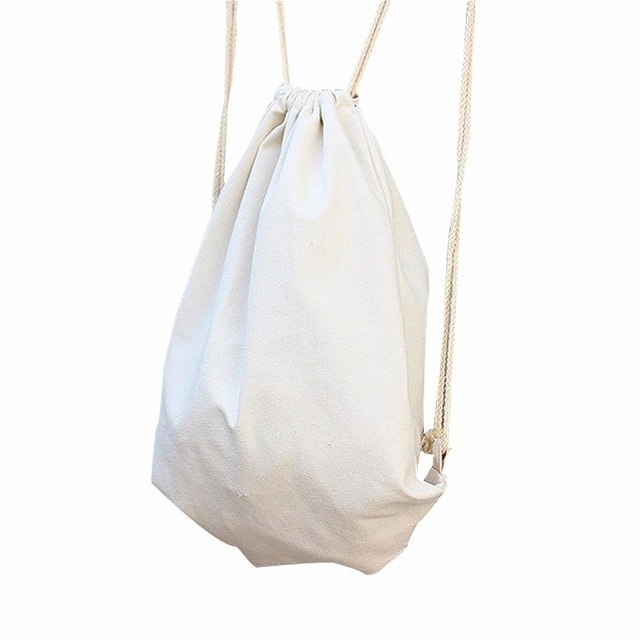 Fashion Backpack Solid Drawstring Beam Port