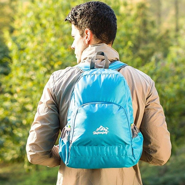 Folding Nylon Travel Men Backpack Male School
