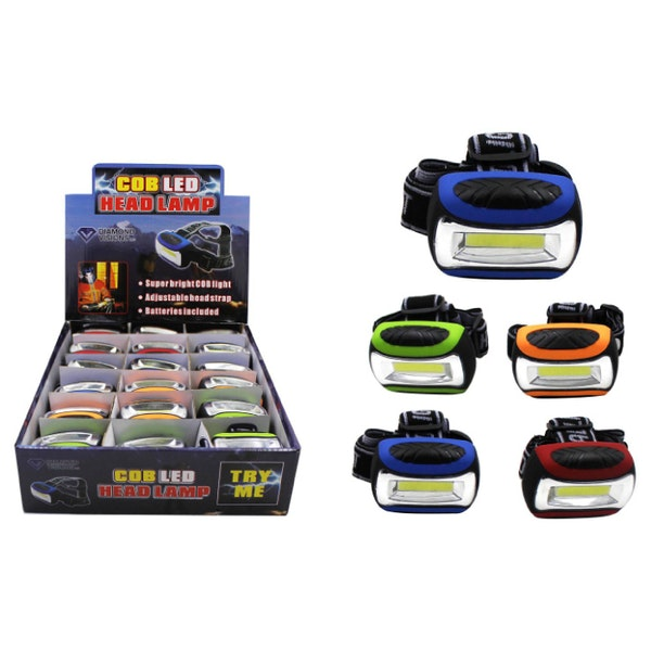 COB LED Head Lamp Case Pack 18