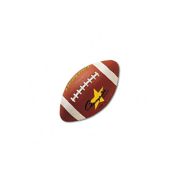 "Football Rubber/Butyl 12"" Brown Case Pack 3"
