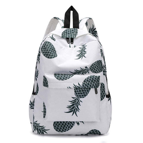 Fresh Style Women Backpacks cute Pineapple Print