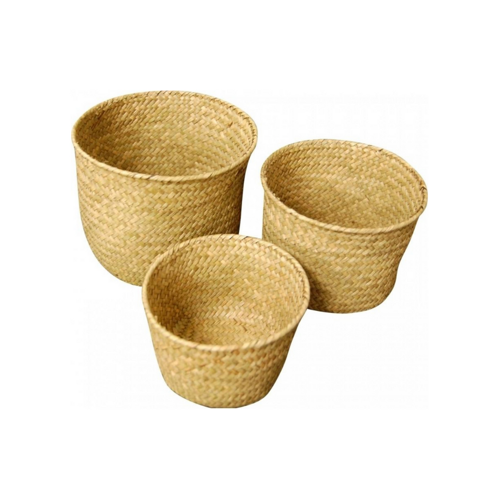 Woven Mini Tubs S/3 Natural