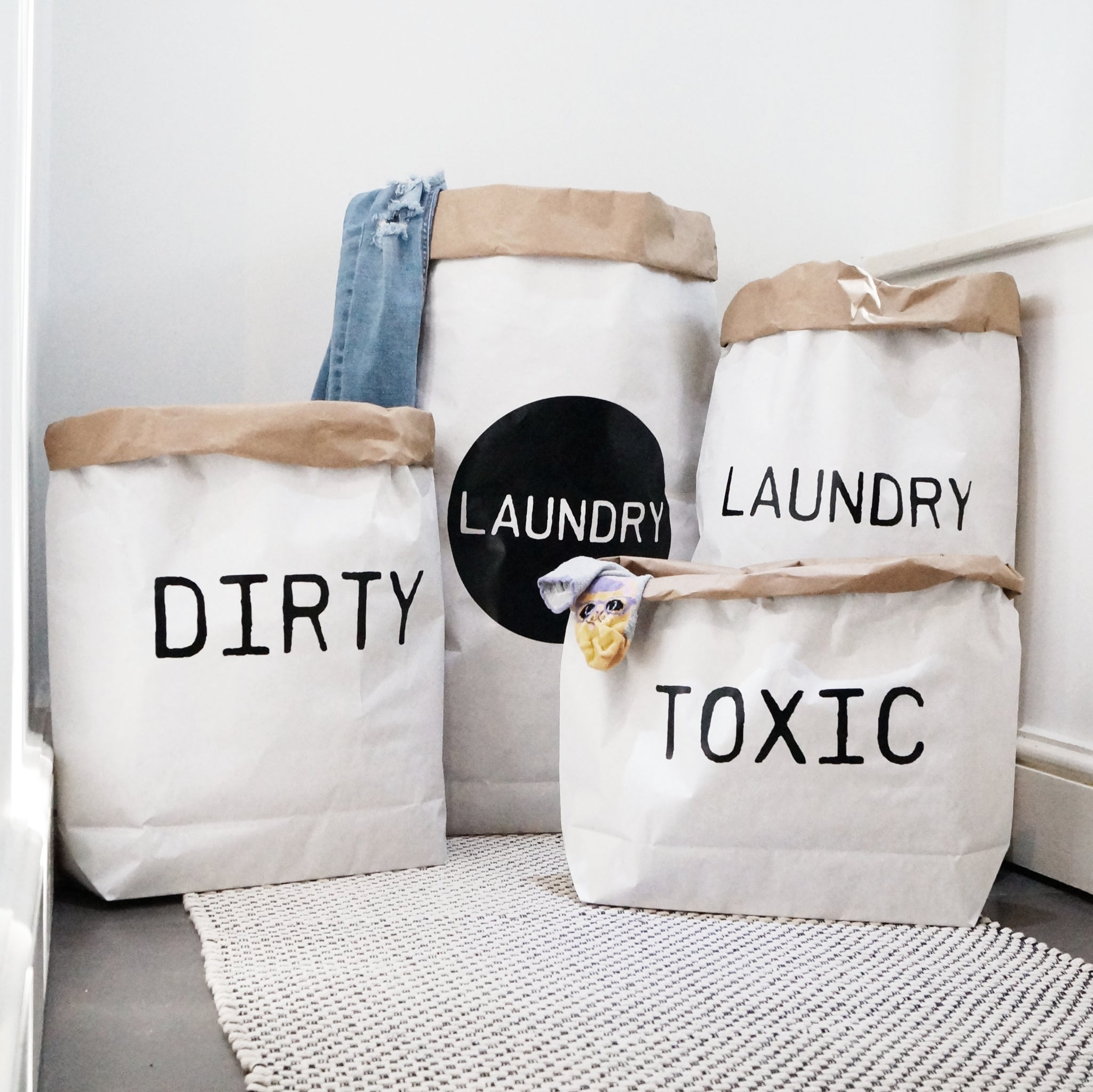 Laundry Paper Storage Bag
